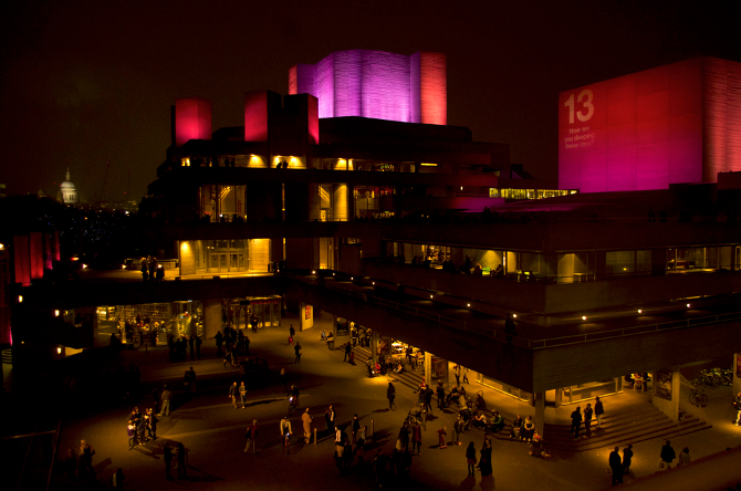 The National Theatre on London's South Bank by Kosala Bandara